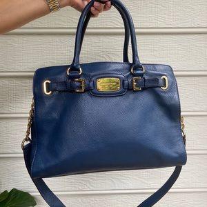 Michael Kors Blue Leather Purse